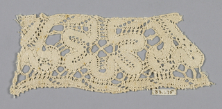 coarse peasant lace, scroll pattern