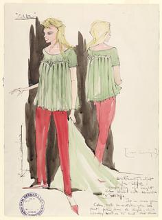 Drawing, Costume Design: Dolores Haze (Lolita), for Lolita