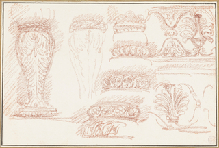 Study of balusters and sculptural motifs