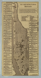 Map, Map of Manhattan with Arc
