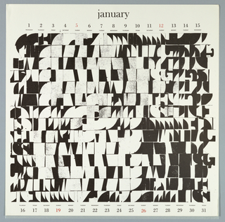 Calendar, Keepsake No. 14, January, 1969