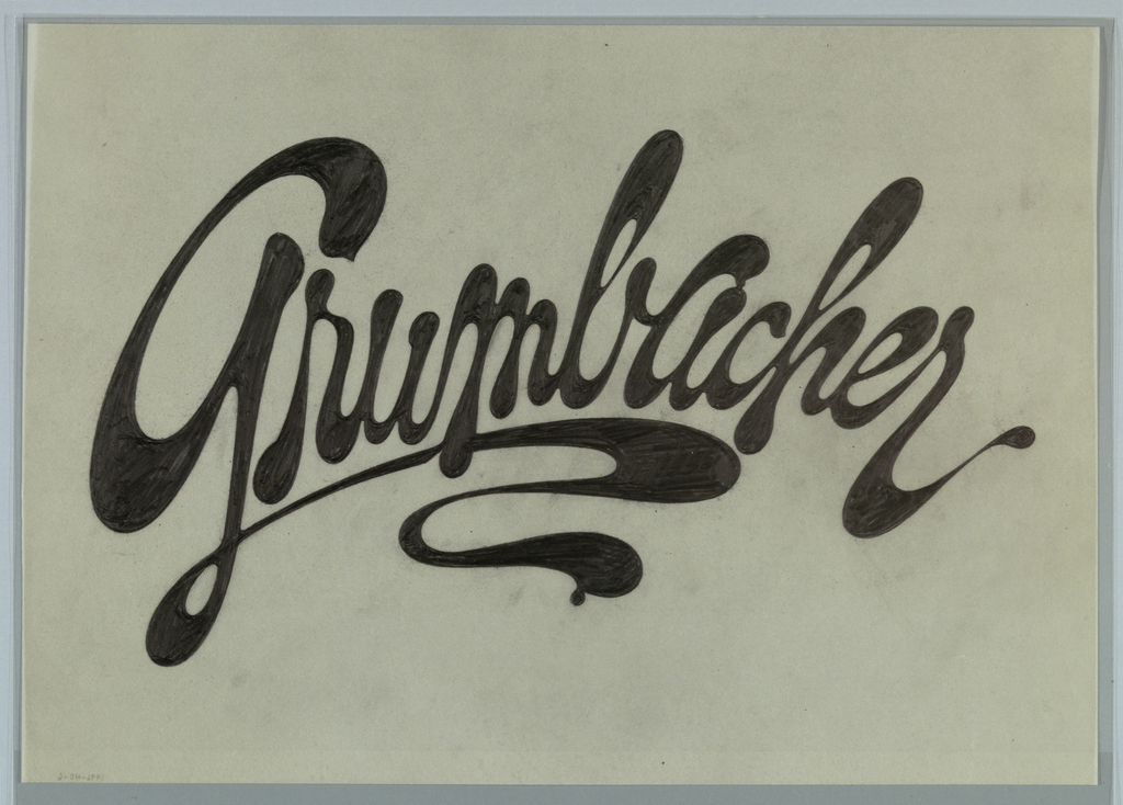 Drawing, Design for Grumbacher Logo
