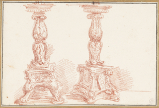Study of two candelabras