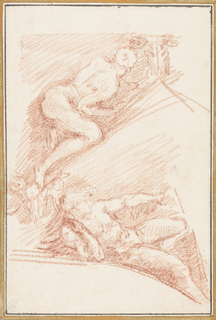 Drawing, Figures from Sistine Chapel ceiling