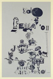 Poster Announcement, Edward Fella, January 28, 2002