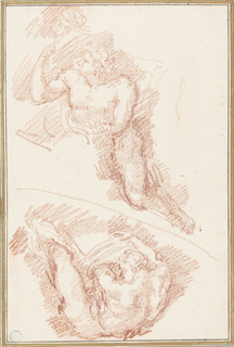 Figures from The Last Judgment by Michelangelo