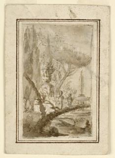 Drawing, Fantasy Landscape, ca. 1742–43