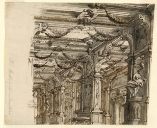 Drawing, Stage Design: Palace Interior