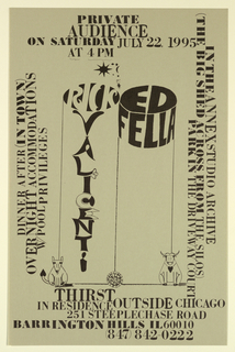 Poster Announcement, Rick Valicenti and Edward Fella/Annex Studio Archive