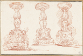 Study of three candelabras