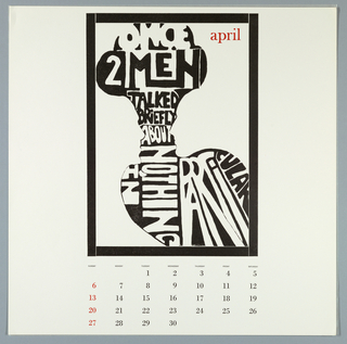 Calendar, Keepsake No. 14, April, 1969