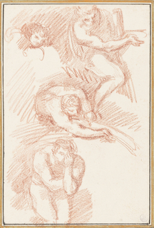 Drawing, Figures from Last Judgment