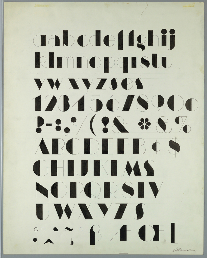 Drawing, Design for Manhattan Typeface