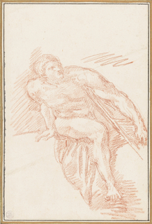 Seated figure from The Last Judgment by Michelangelo