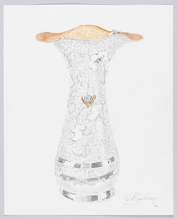 Drawing, Design for Tall Bee Vase