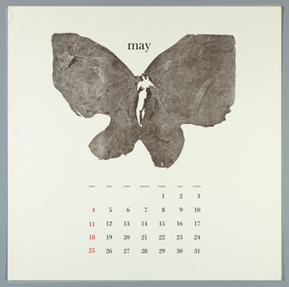 Calendar, Keepsake No. 14, May, 1969