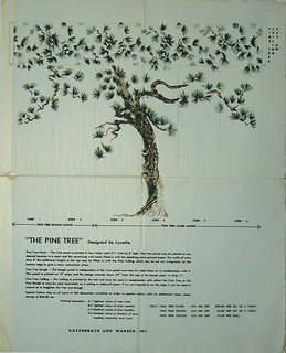 Image consists of a single pine tree. This is divided into different panels and ceiling papers.