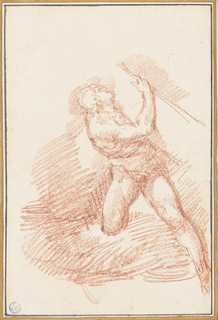 Drawing, Figure from Last Judgment