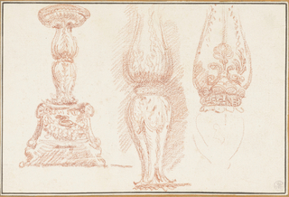 Study of balusters and a candelabra.