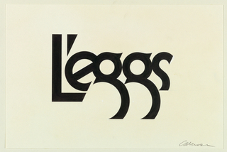 Drawing, Design for L'eggs Logo