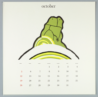 Calendar, Keepsake No. 14, October, 1969