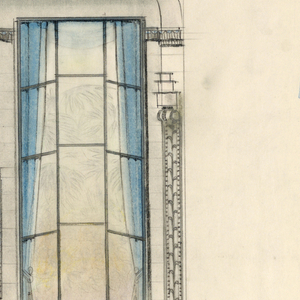 Drawing, Fireplace Wall Elevation, Dining Room, Agnes Miles Carpenter Residence, 950 Fifth Avenue, New York, NY