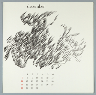 Calendar, Keepsake No. 14, December, 1969
