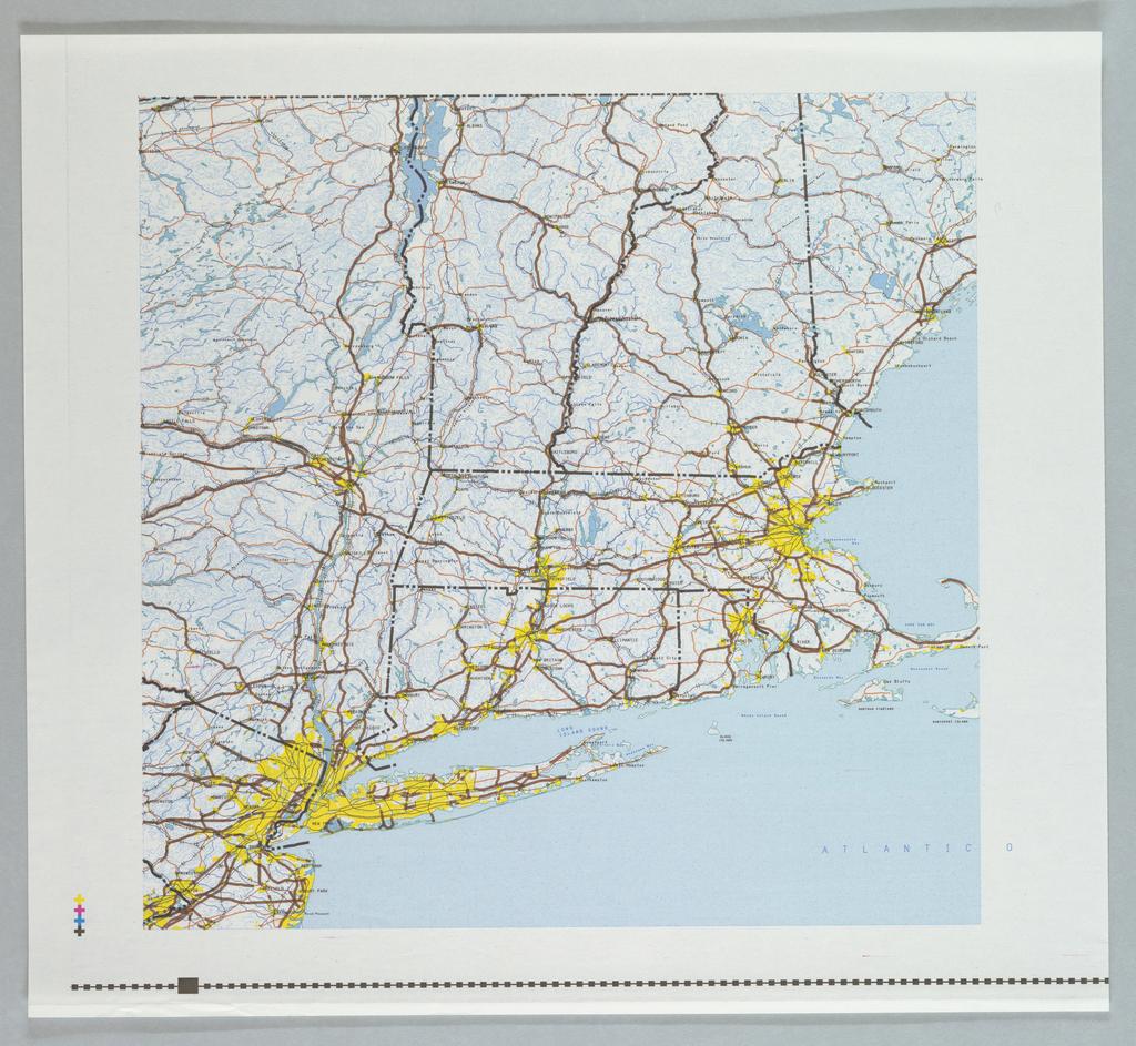 Map, map of Massachusetts -  N