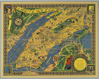Map, Chart of New York for 1939 World's Fair, 1939