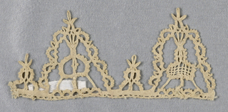 Fragment of a border of two triangular pendants.