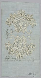 Lace Pattern With Lace Attached