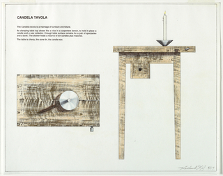Drawing, Candela Tavola: Plan and, 1989