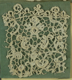 Fragment, Cooper Union Museum Lace Study Card