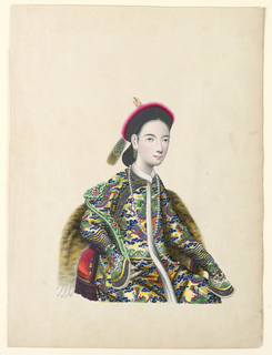 Miniature, Portrait of Seated Lady, ca. 1820–60