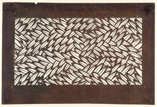 Interlaced pattern of lozenge-shapped leaves