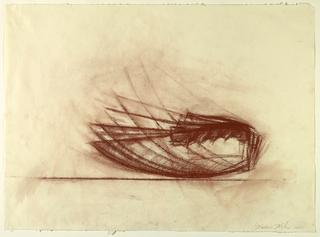 Drawing, Mezzaluna Knife, 1981