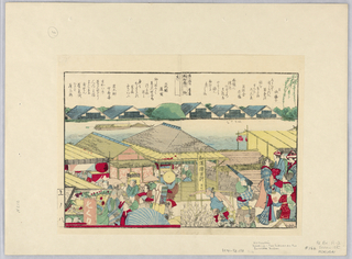 Print, Teahouse on the Sumida River, 1760-1849