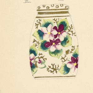 Drawing, Design for Lidded Jar
