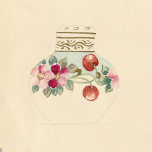 Drawing, Design for Lidded Jar