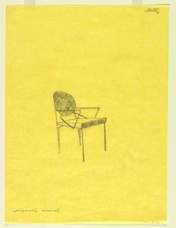 Drawing, Design for Vik-ter Chair