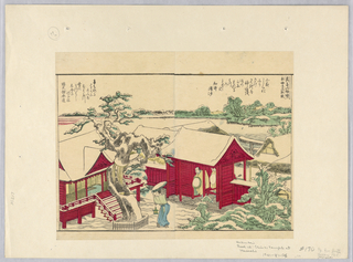 Print, Shinto Temple at Masashi, 1760-1849