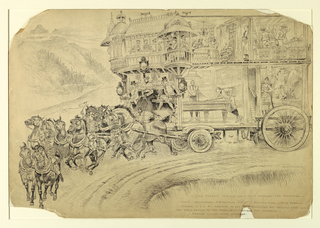 Drawing, The Perfect Vehicle for a Trip Through the Mountains, late 19th century