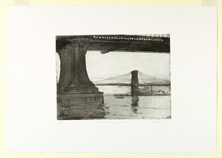Print, Brooklyn Bridge, Plate 2, 1982