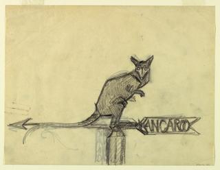 Drawing, Kangaroo