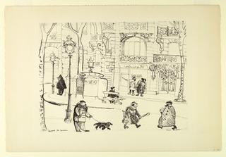 Print, Boulevard St. Germain (Pa, 1954