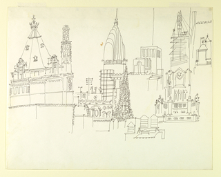 Drawing, New York Skyline From the