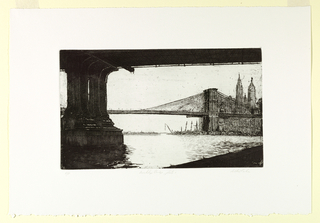 Print, Brooklyn Bridge, Plate 1, 1982
