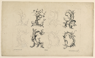 Print, Rocaille Motif, from Set No. 76