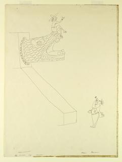 "Drawing, ""Appreciation""--Two Touri, 1960"