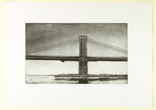 Print, Brooklyn Bridge, Plate 8, 1982